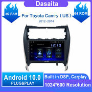 Dasaita 10.2andrdquo Android 10.0 Single Din Car Stereo Bluetooth For Toyota Camry Auto
