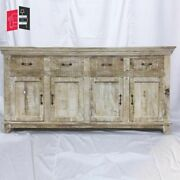 Bleached Mango Wood Large Sideboard Shabby Chic French Made To Order