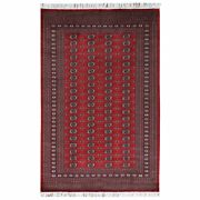 6and039x9and0392 Silky Wool Deep Red Hand Knotted Super Bokara 250 Kpsi Rug R61365