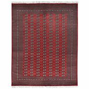8and0391x10and0392 Bokara 250 Kpsi Silky Wool Red Hand Knotted Rug R61363