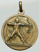 1930and039s Italy Fascist Vintage Italian Historical Vintage Old Archery Medal I92032
