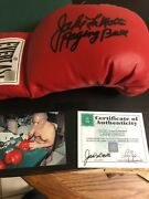 Autographed Jake Lamotta Boxing Glove Insc Raging Bull Ssg Certified Signed