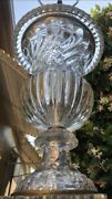 Art Deco 1930s French Baccarat Neoclassical Crystal Murano Glass Like Lamp