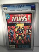 New Teen Titans 44 Cgc 9.8 White Pages 1st Nightwing Jericho Perez Deathstroke