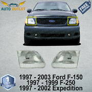 New Set Of Headlights For 97-03 Ford F-150 1997-1999 F-250 1997-2002 Expedition
