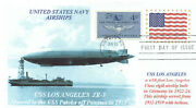 Uss Los Angeles Zr-3 Us Navy Airship Photo Cachet, First Day Of Issue Postmark