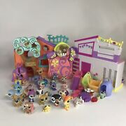 Littlest Pet Shop Club Tree House + Shopkins Playsets And Lps Pets, Lot