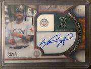 David Ortiz 2021 Topps Tribute Red 8/10 Green Monster Wall Graphs Auto Rare Hit