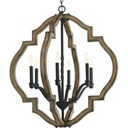 Spicewood - Chandeliers Light - 6 Light In Farmhouse Style - 30 Inches Wide By