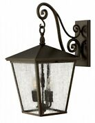 Trellis - Four Light Outdoor Large Wall Mount In Traditional Style - 11 Inches