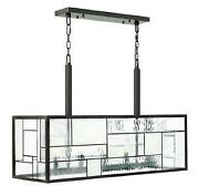 Mondrian - Five Light Chandelier In Craftsman Style - 36 Inches Wide By 24