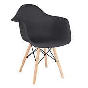 Canglong Mid Century Modern Dsw Molded Shell Lounge Plastic Arm Dining-chairs,