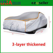3-layer Waterproof Full Car Cover For Outdoor Dust Uv Ray Rain Snow Multi-choice
