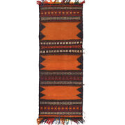 152x60cm Antique Hand Woven Afghan Oriental Entryway Runner Table Sheet Rug 4013