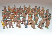 Vintage Lot Of 47 Pieces - Barclay Manoil Metal Lead Toy Soldiers - Antique