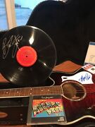 Bruce Springsteen Signed Guitar Record And Cdandnbsp Each Signed