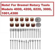 For Dremel Stone Carving Set Polishing Rotary Diamond Burr Accessories Carving