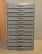 Vintage 12 Drawer Equipto Jeweler Watchmaker Parts Cabinet Hardware Chest Tool
