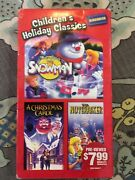 The Magic Gift Of The Snowman,the Nutcracker And A Christmas Carol Vhs Very Rare