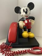 Vintage Disney Mickey Mouse Corded Land Line Touch Tone Telephone 1996