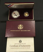 🏅1988 Us Mint Olympic Proof 2 Coin Set W/ Five Dollar Gold Coin And Silver Dollar