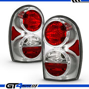 Chrome Replacement Tail Light Pair Set For 2002-2005 Jeep Liberty Left Right