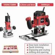 Woodworking Electric Router Trimmer Milling Engraving Slotting Trimming Machine