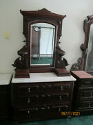 Victorian Antique Bed And Bedroom Set Good Condition