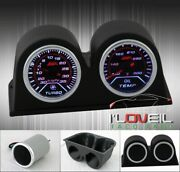 High Quality Performance Turbo Boost Gauge + Oil Temperature + Duals Dash Pods