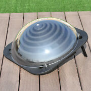 Black Outdoor Solar Dome Inground Andabove Ground Swimming Pool Water Heater New