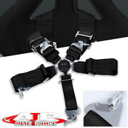 3 Single Black 5 Point Harness Cam Lock Racing Seat Belt Safety Latch Clip On