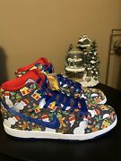 Size 10.5 - Nike Sb Dunk High Concepts Ugly Christmas Sweater 2017 881758-446