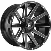 4- 20x9 Black Milled Fuel Contra 6x135 And 6x5.5 +20 Rims Courser Mxt 35 Tires