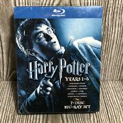 Harry Potter Years 1-6 Blu-ray Disc, 2009, 7-disc Set, Factory Sealed