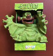 Rare 1989 Bendy Toys Gilbert The Alien Figure With Case, Tyne Tees Television