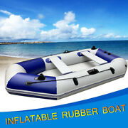 4 Personal Inflatable Fishing Rowing Boat Raft Canoe Kayak With Oars And Pump