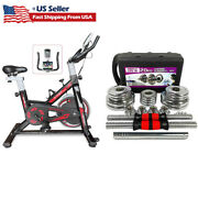 Exercise Bicycleanddumbbell Cycling Bike Fitness Stationary Cardio Home Indoor Set