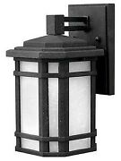 Cherry Creek - One Light Small Outdoor Wall Mount 15w Led Vintage Black Finish
