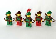Lego Castle Minifigures Lot Of 5 Rare Forestmen Bowman Knights