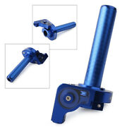Blue 7/8and039and039 22mm Handlebar Cnc Hand Grip Twist Throttle Accelerator Universal