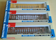 Ho Scale 3 Walthers 72' Centerbeam Flat Cars Ttx Up Chtt
