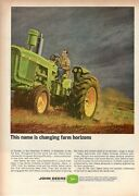 1966 Advertisingand039 Vintage John Deere Industrial Agricultural And Work Tractor 1b