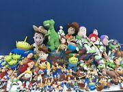Large Lot 20 Pounds Pixar Toy Story Plush Dolls And Action Toy Figures Hard Toys