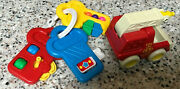 Vintage Baby Toys Keys Fisher Price Tonka Fire Truck/engine Red Blue Yellow