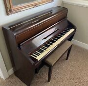 Steinway Vertegrand-brown Upright Piano. Antique Piano Made In 1905.