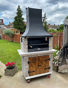 Barbecue Bbq Outdoor Charcoal Or Wood 🔥 Amazing For Garden 🔥 Big Grill 🔥