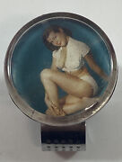 """Rare Vintage 1950s """"hollywood"""" Pin-up Suicide Steering Wheel Knob Car Accessory"""