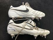Matchworn And Signed Pair Of Boots Real Madrid Germany From Christoph Metzelder