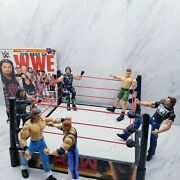 Wwe Raw Wrestling Ring Breakable Mattel 2015 With Action Figures Lot And Magazine
