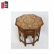 Bone Inlay Living Room Furniture Brown And White Bedside Table Made To Order